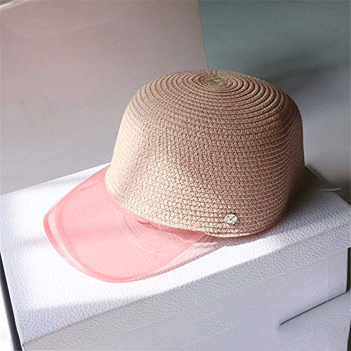 KCJMM-HAT Sommer Unisex Frauen Sonnenhut Leere Top PVC Visier Caps Fahrräder Sonnenhut,PVC-Kunststoff transparent Kappe im Freien UV-Visier, Pink