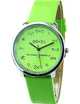 Mathematik Dial Quartz Damen Uhr Fashion Armbanduhr Grün