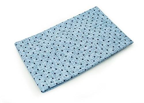 Muster Leggings Nähen (Jersey Stoff gemustert als Meterware  Muster: Herzen auf dunkelblau 50cm x 160cm 92% Baumwolle, 8% Elasthan Mehrere Farben zur Auswahl Jersey 1buy3)