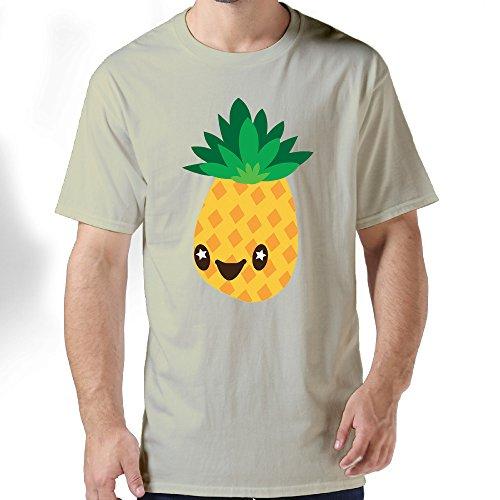 George Oy Pineapple Smile Super-Soft Men's Short Sleeve T-Shirt Tees