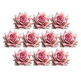 FITYLE 10 Pcs Velluto Artificiali Capolini Testa Bomboniere Capelli Fai Da Te Decorativi Cartoline Ghirlande Cesti Fiori Sposa Pelle Scamosciata - Rosa