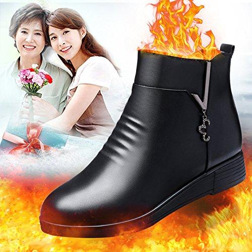 KHSKX-Mère Hiver Chaussures DÂge Moyen Des Bottes À Semelle Souple Un Feuillet Avec Cashmere Chaleureuse Vieilles Chaussures Thirty-eight