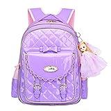 Zhhlinyuan Kinder Perchool Travel Korean Style High Capacity Backpack Rucksack Baby Girls School Bag