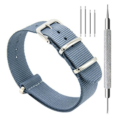 CIVO Uhrenarmband NATO Uhrenarmbänder Premium Ballistic Nylon Armband Edelstahl Wölbung 18mm 20mm 22mm