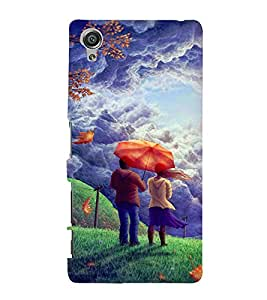 Printvisa Love Couple Admiring Nature Back Case Cover for Sony Xperia X::Sony Xperia X Dual F5122 with dual-SIM card slots