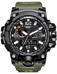 V2A Quartz Analogue-Digital Black Dial Men's Watch