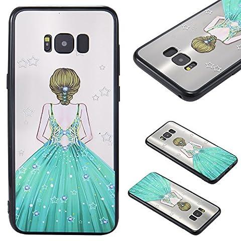 Samsung Galaxy S8 Plus Case Cover, Ecoway Jupe princesse Série Motif Coquille Housse de Protection Housse Pour Téléphone Portable Pour Samsung Galaxy S8 Plus - B9