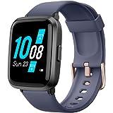YAMAY Smartwatch Pressione Sanguigna con Saturimetro Cardiofrequenzimetro Orologio Fitness per Uomo Donna Impermeabile IP68 O