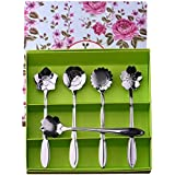 Cucharas cafe, Cozyswan Cucharas de té Elegancia conjunto de la cuchara flores con una caja de regalo