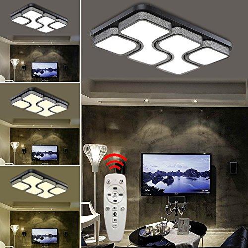 HG® 64W LED Deckenlampe Dimmbar Deckenleuchte Design Angenehmes Licht wohnzimmer Beleuchtung Wandleuchte