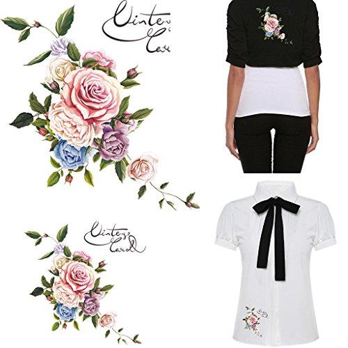 Manyo DIY Blumen-Patches Stickerei Applikation Für Decoreting und Patching Jacket, T-Shirt, Jeans, Hut, Kleid. (S) (Stickerei Patch Patches)