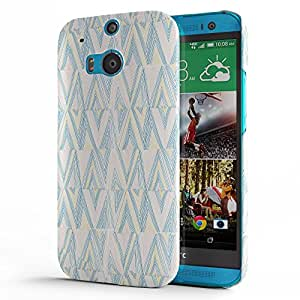 Koveru Designer Printed Protective Snap-On Durable Plastic Back Shell Case Cover for HTC One M8 - Convention design