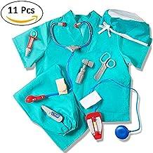 Roful Disfraz de médico Disfraz, Disfraz de médico Azul Infantil Disfraz de médico Cirujano con