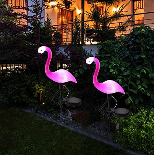 Solar Flamingo Rasenleuchte mit Solarpaneelen LED Garten Weg Landschaftsbeleuchtung Nachtlampe Wasserdicht Deko Stake Beleuchtung 1 Stück