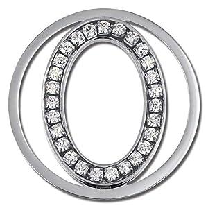 Amello ESC535JW Oval Silber Ecken 30 mm Ladies Eintrager Zirkonia Edelstahl