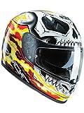 Casque Moto Hjc Marvel Fg-St Ghost Rider Rouge-Jaune (Xxl , Rouge)
