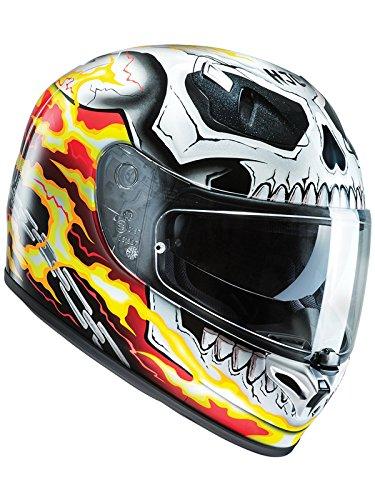 Casco Moto Hjc Marvel Fg-St Ghost Rider Rosso-Giallo (Xxl , Rosso)