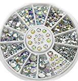 Great Mixed DIY size glitter Rhinestones charm 3D nail art Decor accessori (multi colore)