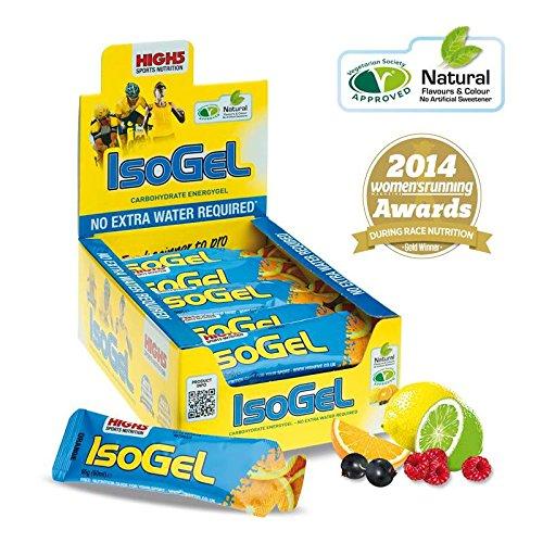 HIGH5 IsoGel 25x60g Stk. Pack Orange, isotonisches Energie Gel aus Orangensaft, ohne Wasser trinkbar