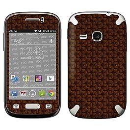 atFoliX Skin Compatibile con Samsung Galaxy Young GT-S6310, Sticker Pelle (FX-Honeycomb-Brown), Struttura a Nido d'Ape/Nido d'Ape
