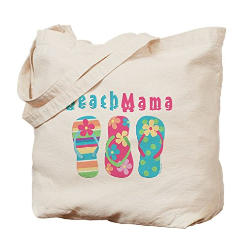CafePress–Strand Mama–Leinwand Natur Tasche, Reinigungstuch Einkaufstasche Tote S khaki (Stoff Handtaschen Dot Polka)
