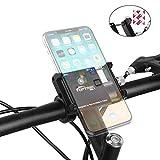 Toptrek Handyhalterung Fahrrad Aluminiumlegierung Handyhalter Fürs Fahrrad Passend für Alle Smartphones Zwischen 3,5-6,5 Zoll Fahrrad Handy Halterung (Schwarz)