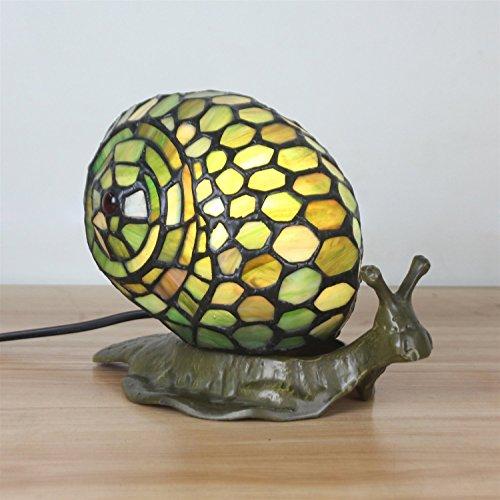 Gweat Schöne kreative Schnecke Tischlampe Kinder Lampe Nachtlicht -
