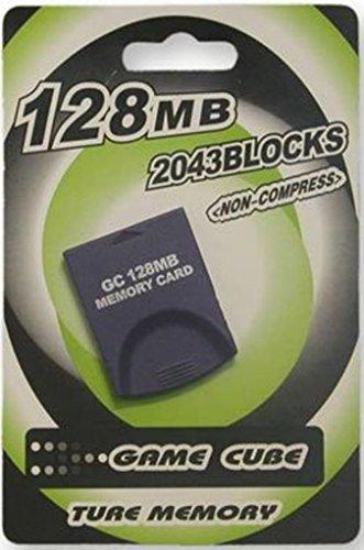 Speicherkarte 128 MB Memory Card 2043 Blöcke für GameCube GC und Nintendo Wii (Wii-gamecube Memory Card)