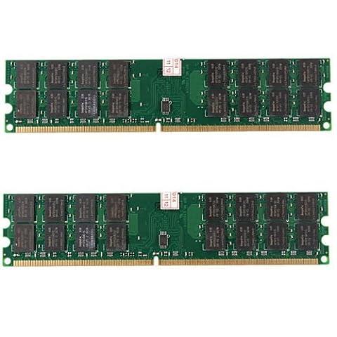 Module de memoire - TOOGOO(R)8GB 2X4GB DDR2-800MHz PC2-6400 240 broches DIMM Pour memoire AMD CPU Carte mere
