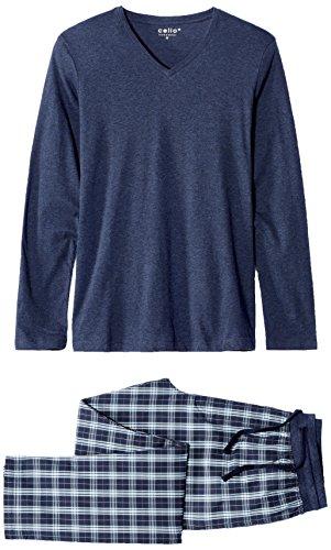 Celio Herren Zweiteiliger Schlafanzug Jipycycle Blau (Navy)