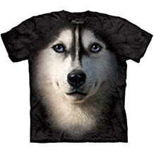 Siberian Face Dog - Husky/Hundegesicht - Kinder-T-Shirt in Größe M
