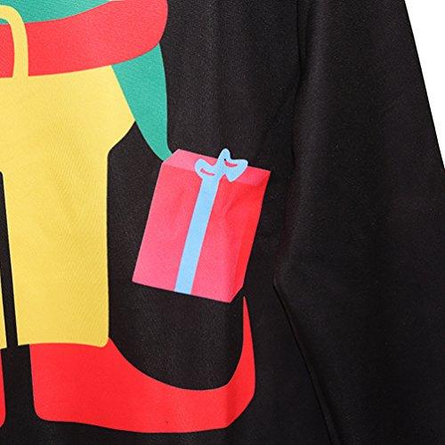 NiSeng Casual Sweatshirt Imprimé Sweat manches longues Pull de Noel Chaud Sweaters Blouson pour femme homme Style 7