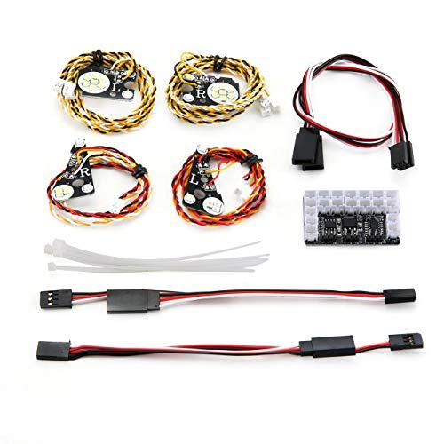 Trx4 Light Kit LED-Scheinwerfer vorne/hinten für Rock Crawler Truck Traxxas Trx-4 RC-Modellauto-Ersatzzubehör im Maßstab 1:10 - 1 Maßstab 4 Rc-flugzeuge