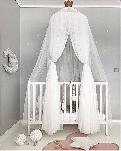 Preisvergleich Produktbild Moskitonetz Betthimmel Play Zelt Betten für Kinder spielen Lesung mit Kinder Dome Runde Spitze Netz Vorhänge, Baby Jungen und Mädchen Spiele House