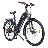 NCM Milano 48V, 28' Urban Trekking E-Bike Elektrofahrrad Pedelec, 250W 13Ah 624Wh, weiß, schwarz (Schwarz, 28')