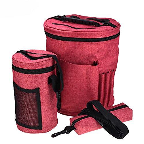 Tasche für Garn Tasche Stricken, Garnaufbewahrungstasche, DIY Stricken Aufbewahrungstasche häkeln Woolen Ablagekorb, Stricken Tasche von Projekten, Stricknadeln, Häkelnadeln & Anderem Zubehör -