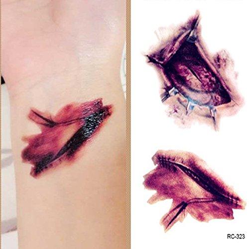 (rc-323) tatoo adesivi temporanei effetto cicatrice temporaneo corpo stickers tattoo adesivo foglio per uomo donna