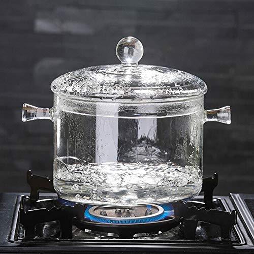 Cuenco de cristal duradero práctico de la ensalada de la microonda a prueba de caloría de los transparentes del hogar de Ofanyia