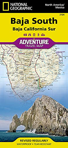 Baja California South: National Geographic Adventure Map