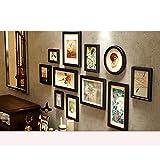 LI SHI JIE SHOP Kreative europäische Fotowand aus massivem Holz - Multifunktionsfotorahmenwand - Mehrbildfotorahmen - DIY Fotorahmenwand (Color : All Black)