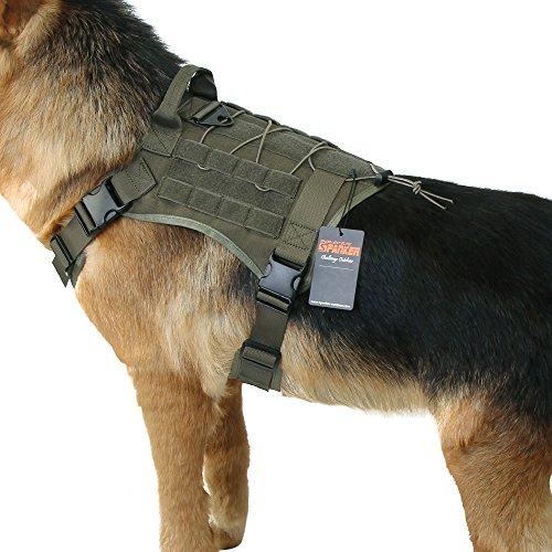 K9 Hundegeschirr mit Griff für Elite Spanker Tactical Service Molle Nylon verstellbar
