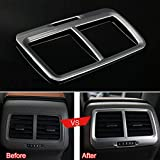 Wylore Silber A/C Outlet Vent Rahmenabdeckung Trim ABS Innen Car Styling Fit f¨¹r VW Golf 7 MK7...