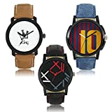 SVM Combo Pack 3 New Stylish Attractive New Designer Watches For Men Boys OD-W319