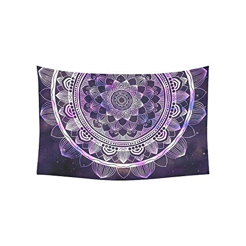 BAOQIN Tapisserie Abstract Ancient Geometric Star Field Colorful Tapestries Wall Hanging Flower Psychedelic Tapestry Wall Hanging Indian Dorm Decor for Living Room Bedroom 80 X 60 Inch