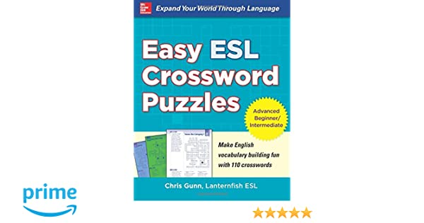 Easy Esl Crossword Puzzles Amazonde Chris Gunn Fremdsprachige Bucher