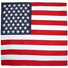 693f5215b29c Paris Fashion - Foulard bandana USA drapeau américain - 55 cm x 55 cm - Moto