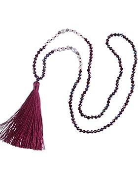 kelitch Natural Pearl Kristall Perlen Halskette handgefertigt langen Quasten Anhänger New Fashion Charm Schmuck