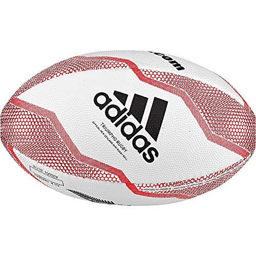 adidas Boys NZRU R B Mini Rugby Ball, White/Black/Active red/Legend Purple, 0