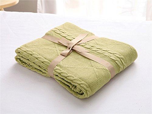 MQZM-Diamond a maglia di filo di cotone coperta coperta di lana-ampia aria condizionata era il cotone divano coperta baby coperte,3.120×180cm