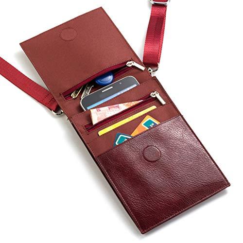 Handy Schultertasche, Phone Tasche PU Leder Mini Umhängetasche Messenger Bag Schulter Multifunktionale Handytasche mit Kartenfächer, für Damen, Mädchen iPhone, Samsung, Huawei Unter 6.4 Zoll - London Cross Body